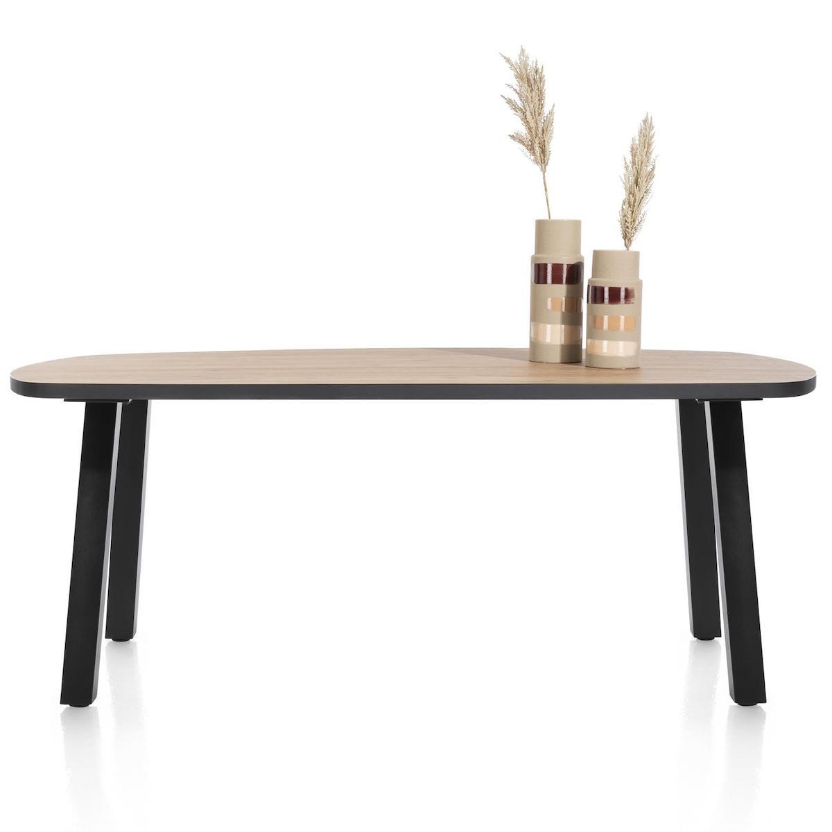 Table ovale 110x210cm AVALOX Henders & Hazel chêne natural vintage-pieds simple