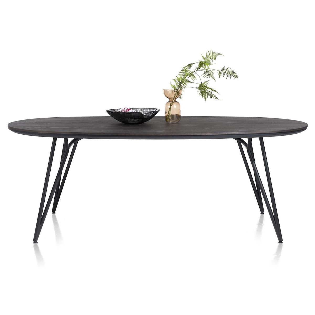 Table ovale 220x120cm VIK Xooon onyx