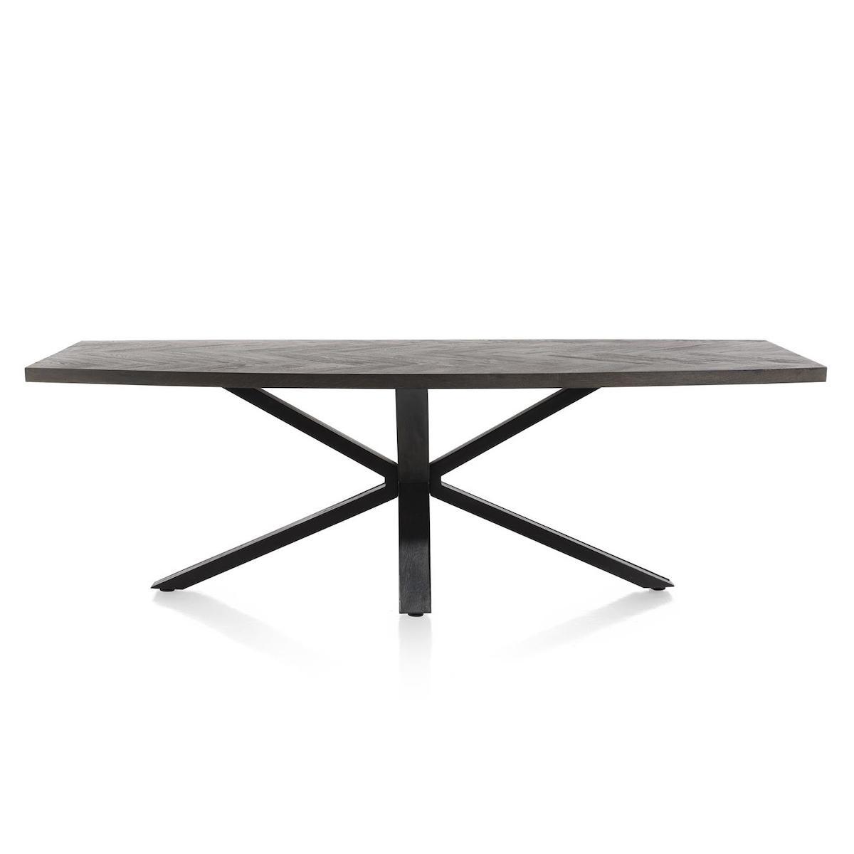 Table ovale 240x110cm METALUXE Henders & Hazel castle anthracite