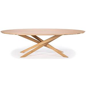 Table ovale 267x138cm MIKADO Ethnicraft chêne