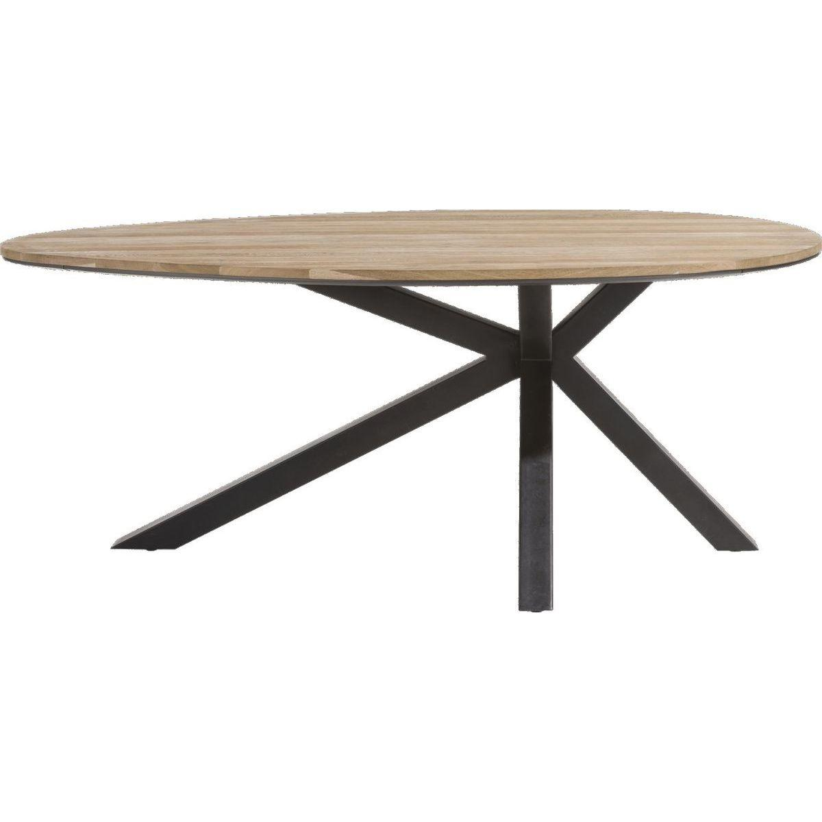 Table ovale COLOMBO Xooon Chêne railway brown 200x120cm