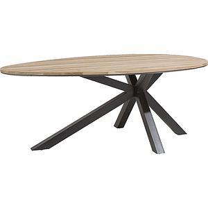 Table ovale COLOMBO Xooon Chêne railway brown 200x120cm