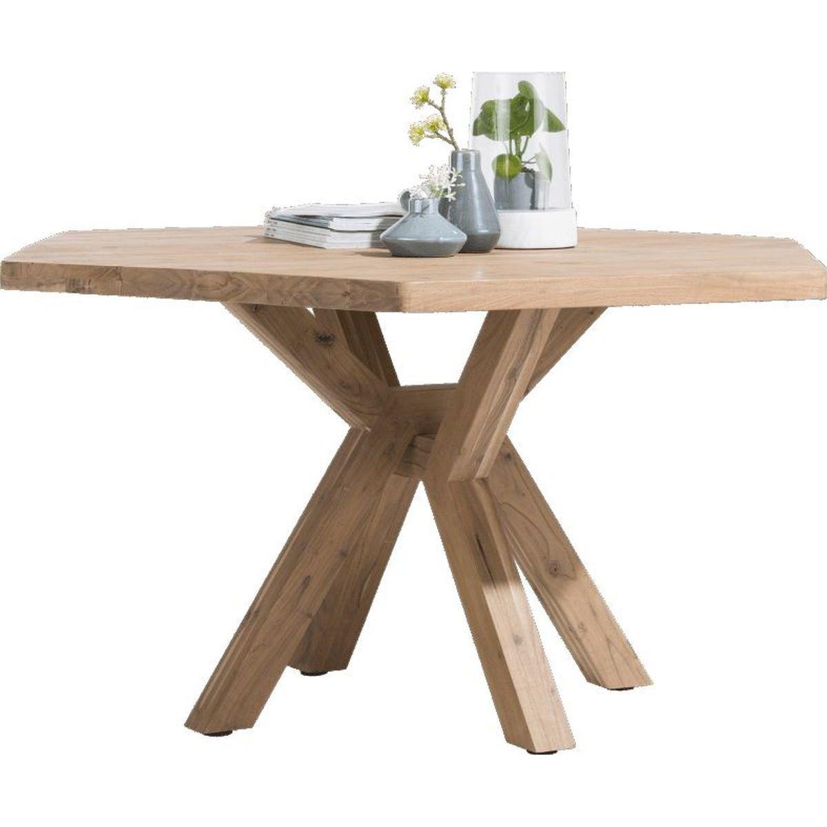 Table QUEBEC HetH 150x130cm pieds en bois