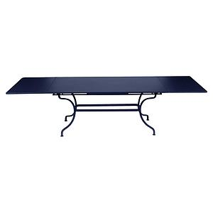 Table rallonge ROMANE Fermob bleu abysse