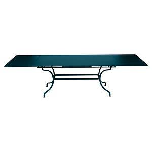 Table rallonge ROMANE Fermob bleu acapulco