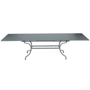 Table rallonge ROMANE Fermob gris orage