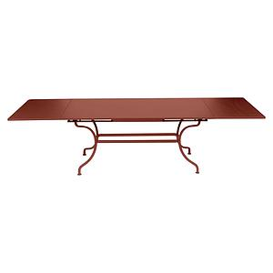 Table rallonge ROMANE Fermob rouge ocre