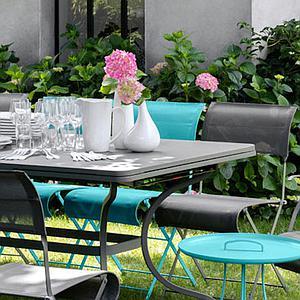 Table rallonge ROMANE Fermob vert opaline