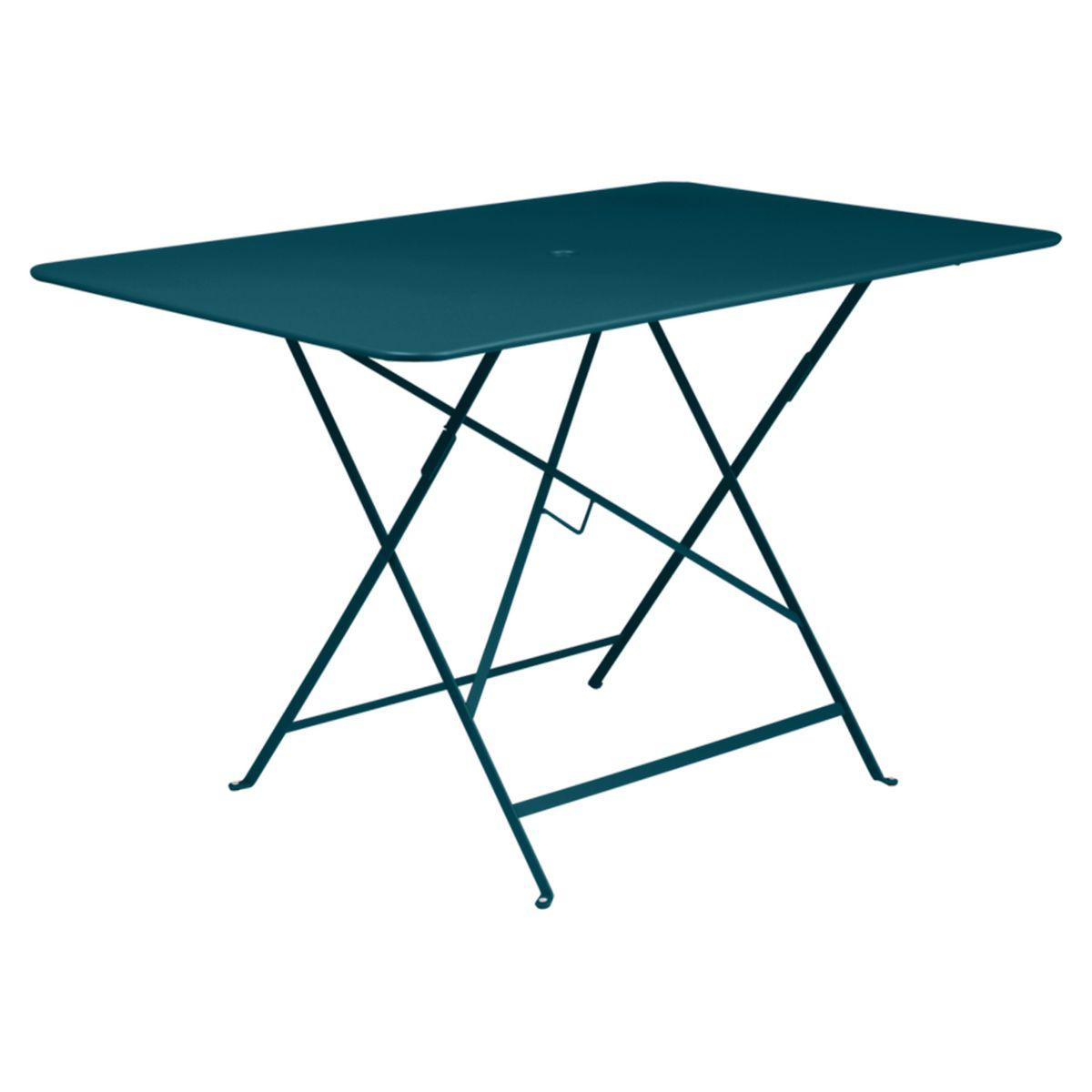 Table rectangulaire BISTRO Fermob 117x77 bleu acapulco