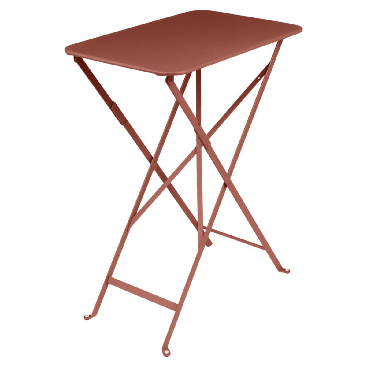 Table rectangulaire BISTRO Fermob37x57 rouge ocre