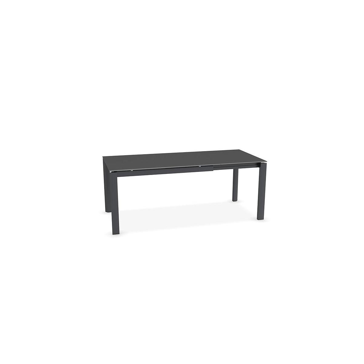 Table rectangulaire extensible DUCA Calligaris céramique-verre pierre