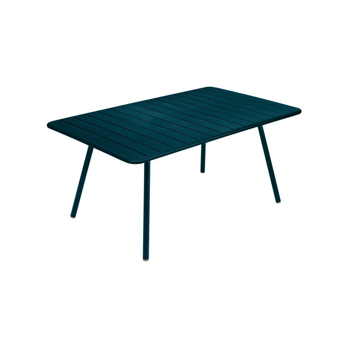 Table rectangulaire Luxembourg 165x100 bleu acapulco