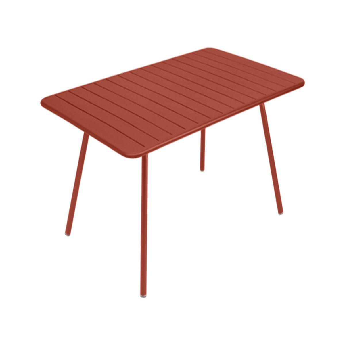 Table rectangulaire Luxembourg Fermob 165x100 rouge ocre