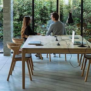 Table réunion 140x240cm BOK Ethnicraft chêne