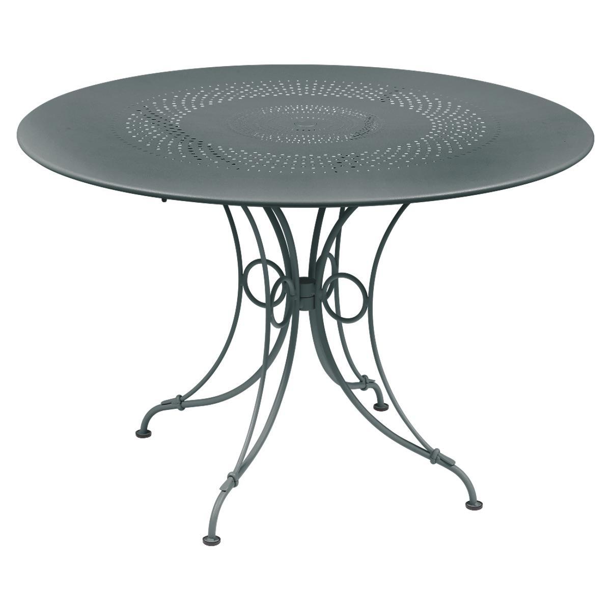 Abitare Living Lu Table Ronde 117cm 1900 Fermob Gris Orage