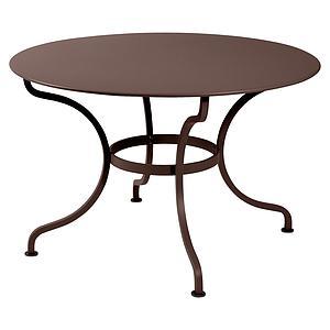 Table ronde 117cm ROMANE Fermob brun rouille