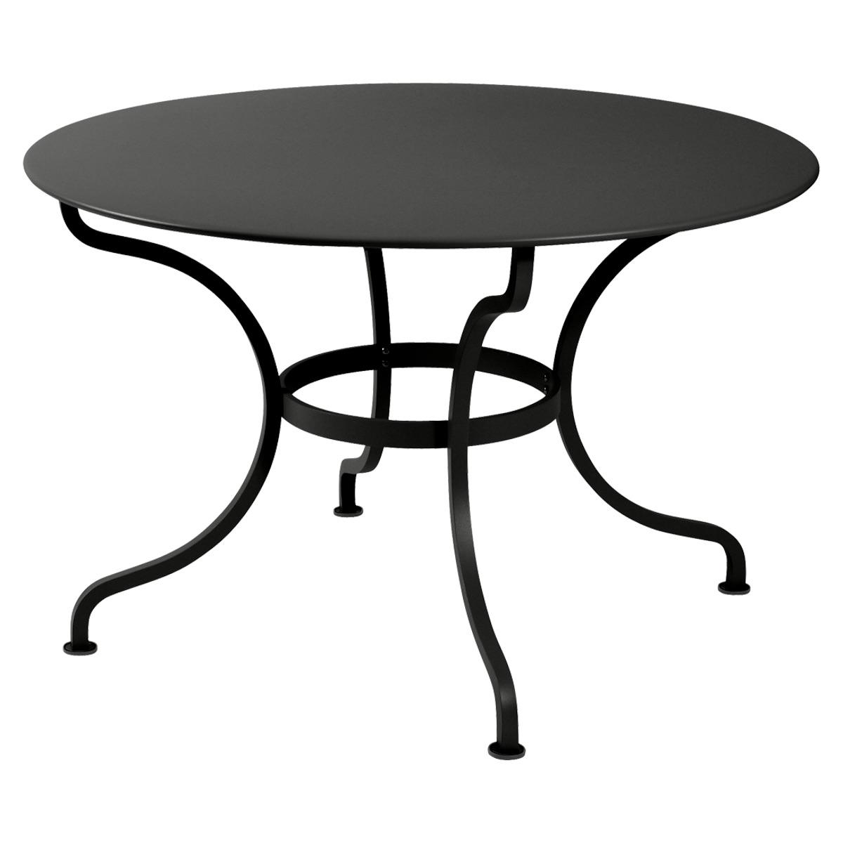 Table ronde 117cm ROMANE Fermob réglisse