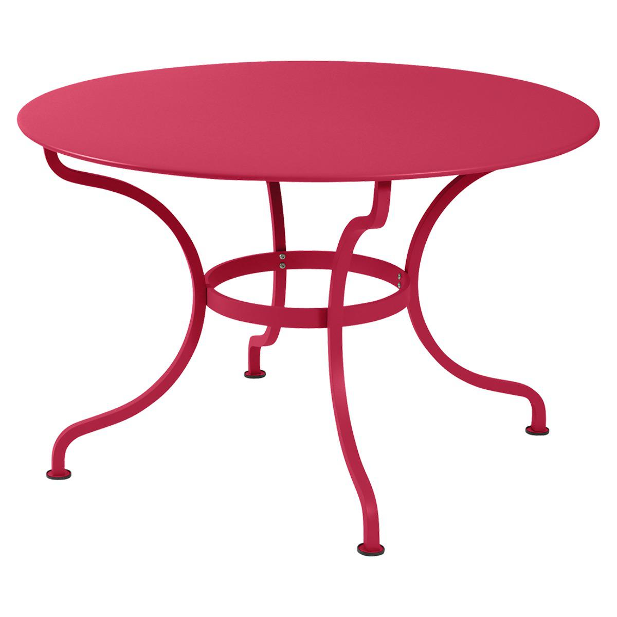 Table ronde 117cm ROMANE Fermob rose prlaine