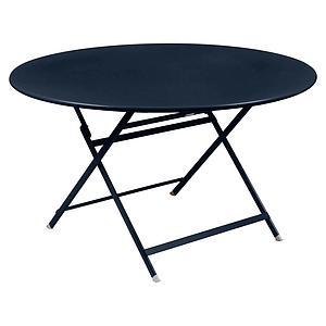 Table ronde 128cm CARACTERE Fermob bleu abysse