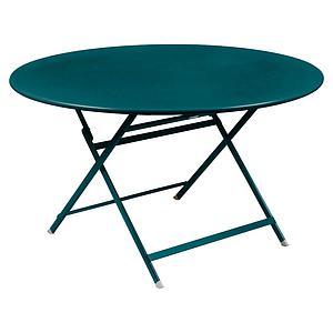 Table ronde 128cm CARACTERE Fermob bleu acapulco