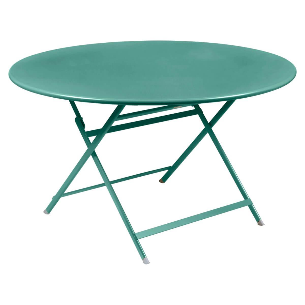 Table ronde 128cm CARACTERE Fermob bleu lagune