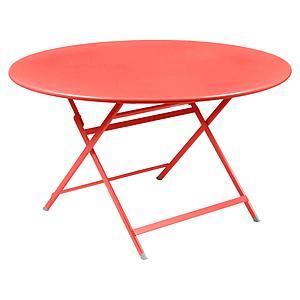 Table ronde 128cm CARACTERE Fermob capucine