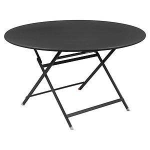 Table ronde 128cm CARACTERE Fermob carbone