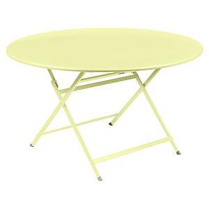 Table ronde 128cm CARACTERE Fermob citron givré