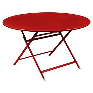 Table ronde 128cm CARACTERE Fermob coquelicot