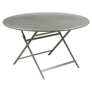 Table ronde 128cm CARACTERE Fermob gris métal