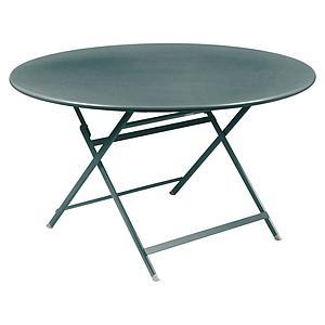 Table ronde 128cm CARACTERE Fermob gris orage
