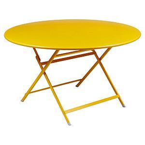 Table ronde 128cm CARACTERE Fermob miel