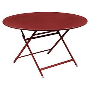 Table ronde 128cm CARACTERE Fermob piment