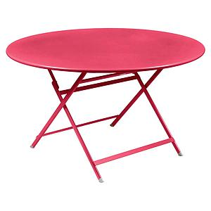 Table ronde 128cm CARACTERE Fermob rose praline