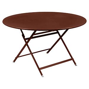 Table ronde 128cm CARACTERE Fermob rouge ocre