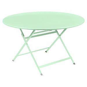 Table ronde 128cm CARACTERE Fermob vert opaline