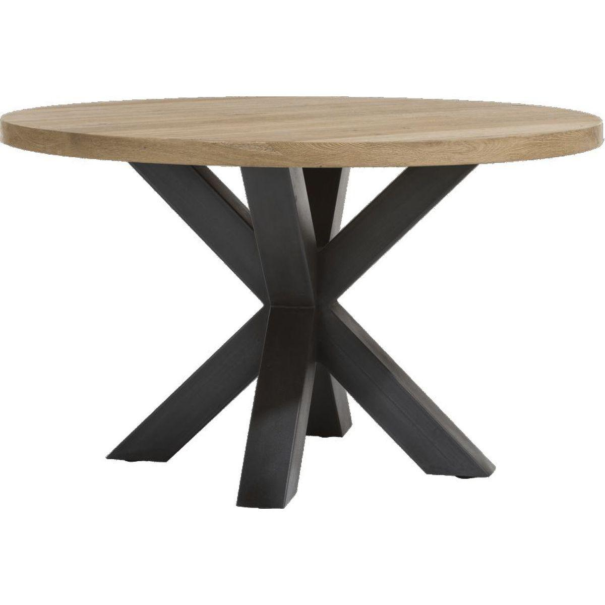 Table Ronde 130 Cm.Table Ronde 130cm Metalox Henders Hazel
