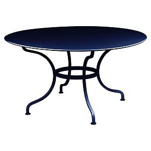 Table ronde 137cm ROMANE Fermob bleu abysse