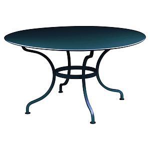 Table ronde 137cm ROMANE Fermob bleu acapulco