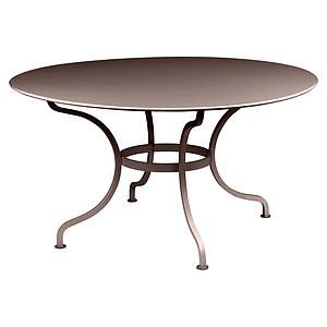 Table ronde 137cm ROMANE Fermob brun rouille