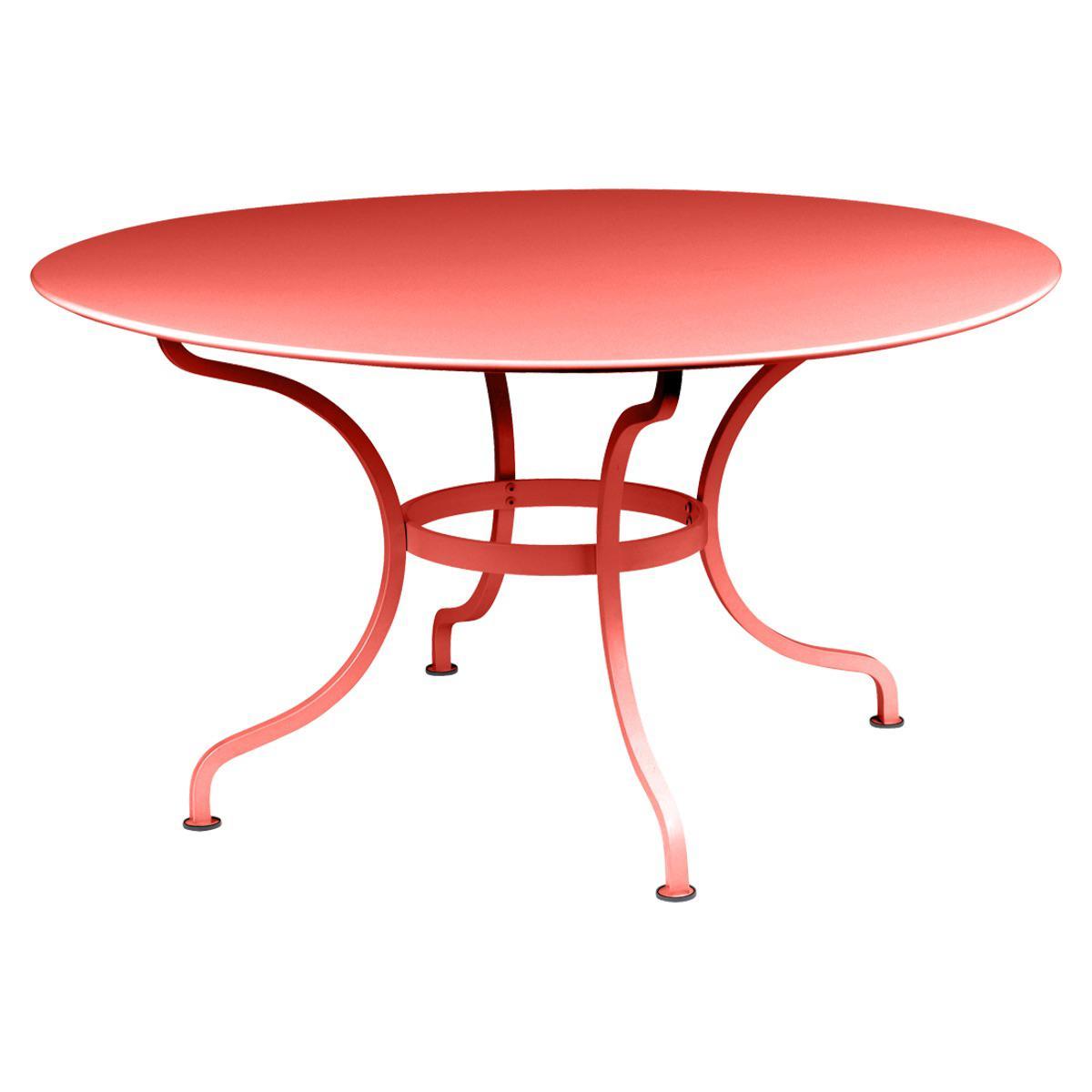 Table ronde 137cm ROMANE Fermob capucine