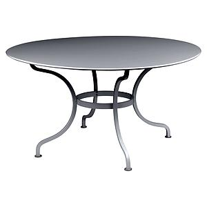Table ronde 137cm ROMANE Fermob carbone