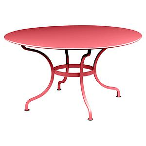 Table ronde 137cm ROMANE Fermob coquelicot