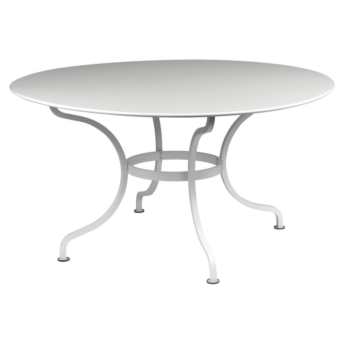 Table ronde 137cm ROMANE Fermob gris métal