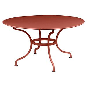 Table ronde 137cm ROMANE Fermob Rouge Ocre
