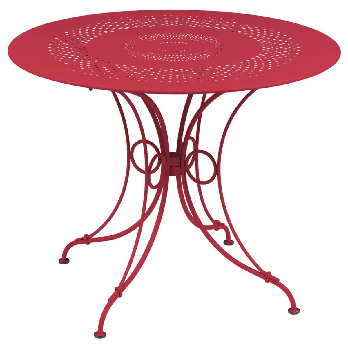Abitare Living Lu Table Ronde 96cm 1900 Fermob Rose Praline
