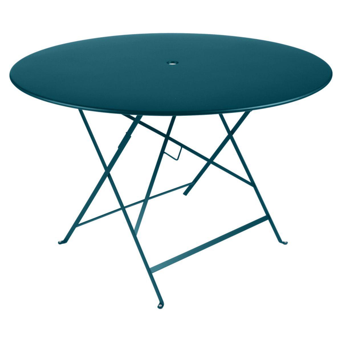 Table ronde BISTRO Fermob D117 bleu acapulco