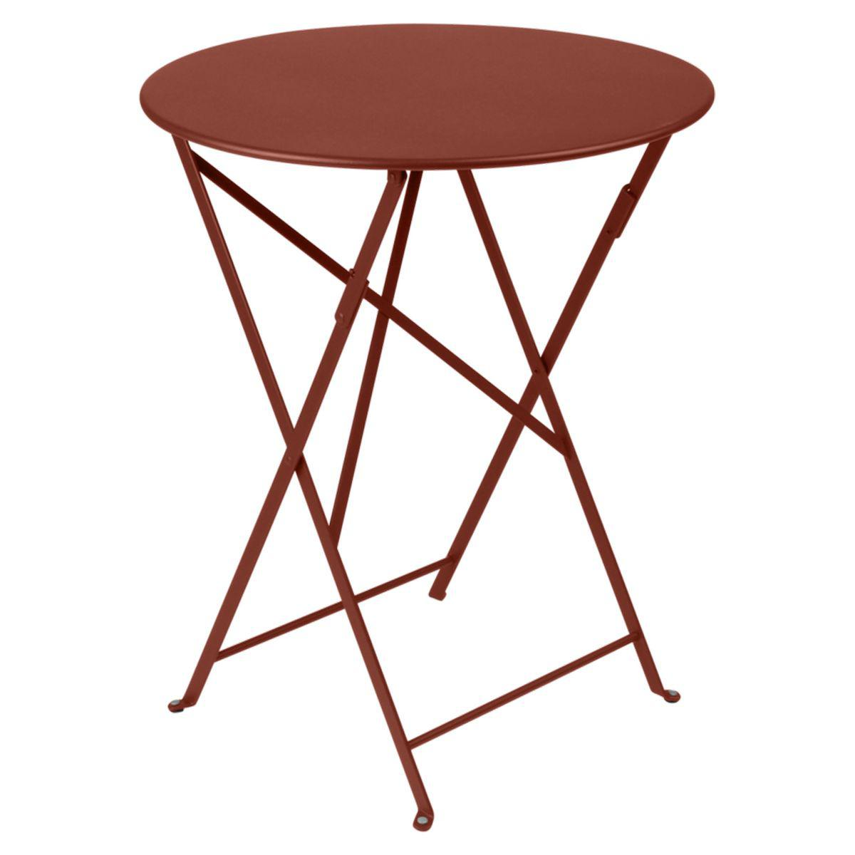 Table ronde BISTRO Fermob D60 rouge ocre
