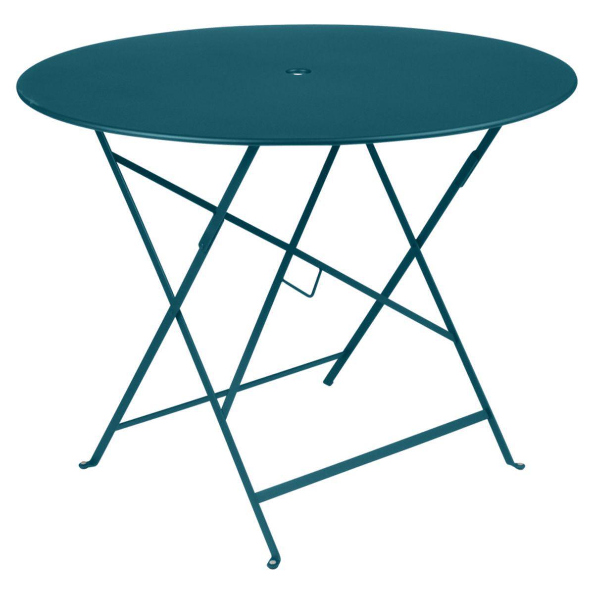 Table ronde BISTRO Fermob D96 bleu acapulco