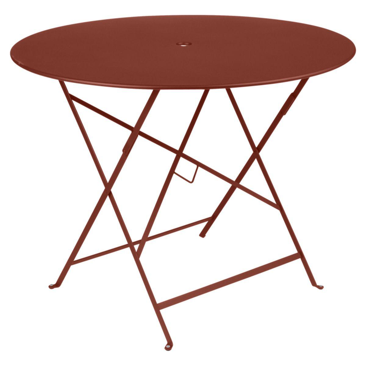 Table ronde BISTRO Fermob D96 rouge ocre